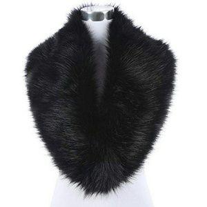 Faux Fur Scarf Wrap Collar Shrug